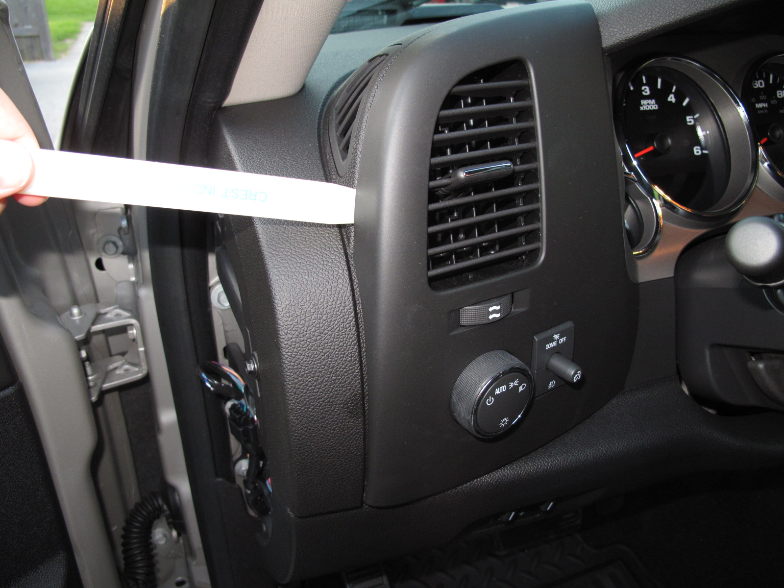 Pulling Out The Old Left Trim Panel Starting From Point Furthest Steering